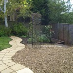 Path, slepers and gravel