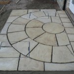 Semi circle set into new patio